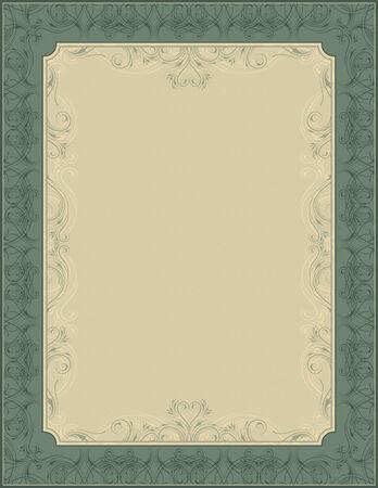 oorkonde: groene achtergrond Stock Illustratie