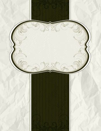 scrunch: crumple classical background,   illustration Illustration
