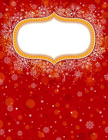 red christmas background with christmas elements,  illustration Stock Vector - 7826950