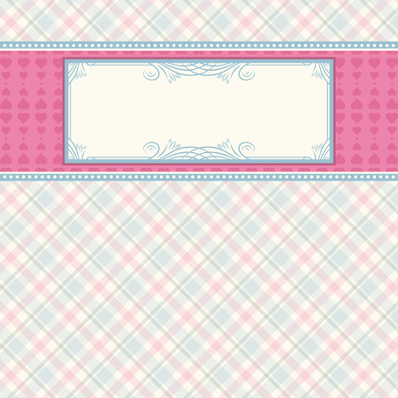 label on color checked background,  vector illustration Stock Vector - 7972833