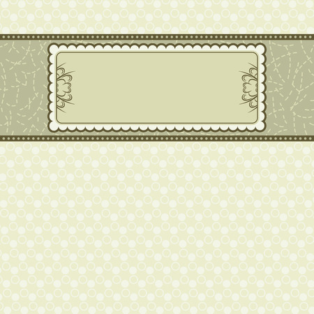 label on beige background,  vector illustration Vector