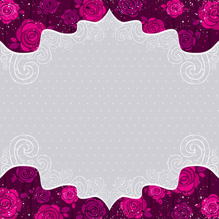 color valentine background with  roses,  illustration Vector