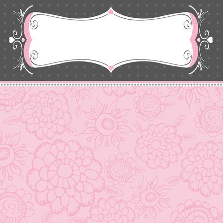 pink  background with decorative flowers Stok Fotoğraf - 8394642