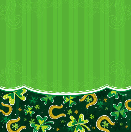 green background with shamrock Vector
