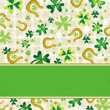 green background with shamrock Stock Vector - 8423553