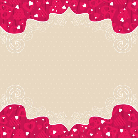 valentines background with pink  hearts Stock Vector - 8423551