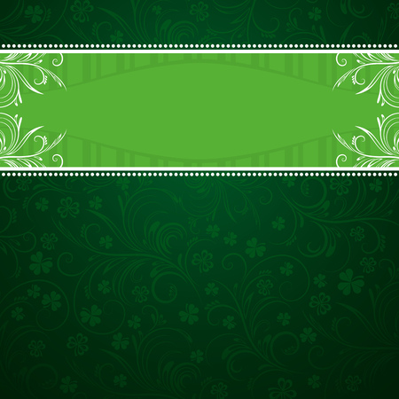 green background with shamrock Stok Fotoğraf - 8444759