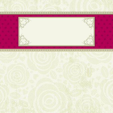 beige valentine background with many roses,  illustration Vector