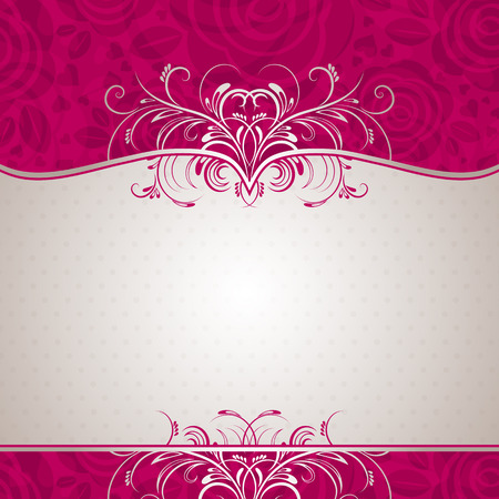 square frame: valentine background with many roses,  vector illustration