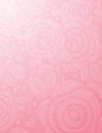 background with many pink roses, vector illustration Stock Vector - 8603536