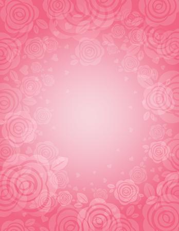 background with many pink roses,  illustration Stok Fotoğraf - 8615436