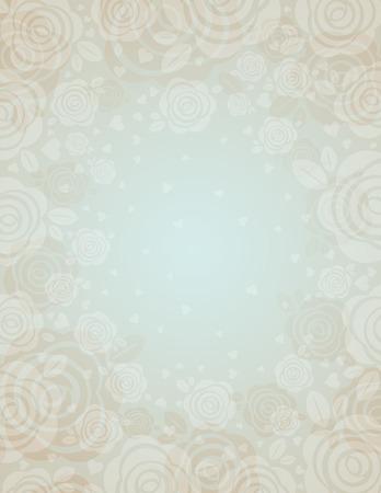 alegria: Fondo beige con rosas, ilustración