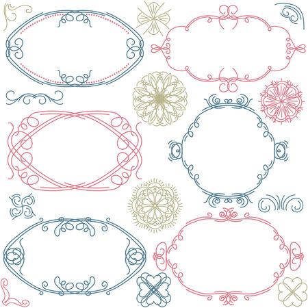 decorative  ornaments for design Stock Vector - 8666690
