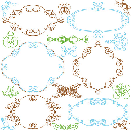 decorative  ornaments for design Stock Vector - 8666689