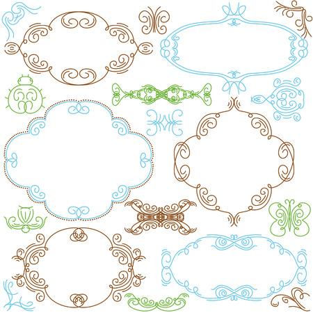 decorative  ornaments for design Stock Vector - 8666689