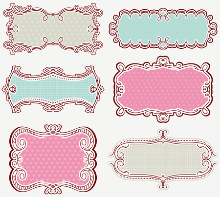 decorative  labels suitable for design  Vector