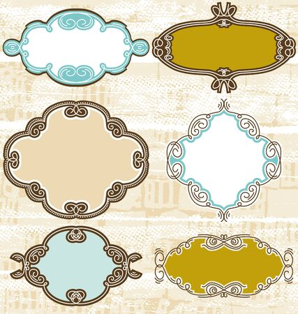 decorative  labels suitable for design,  Stock Vector - 9292253