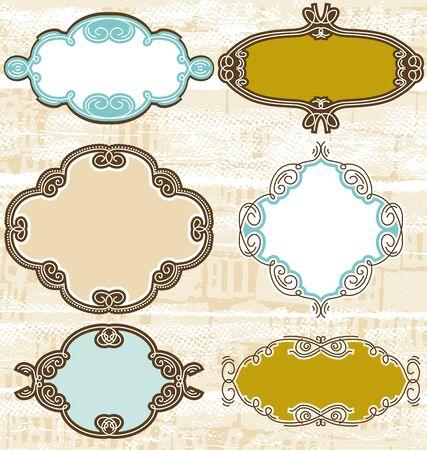 decorative  labels suitable for design, Stock Vector - 9292253