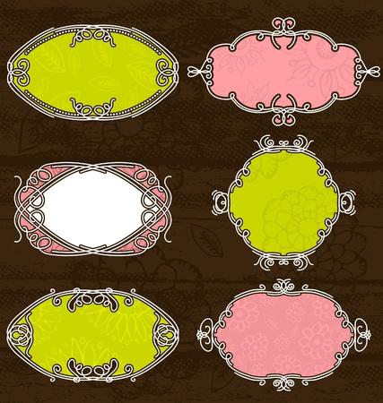 decorative  labels suitable for design, vector Vector
