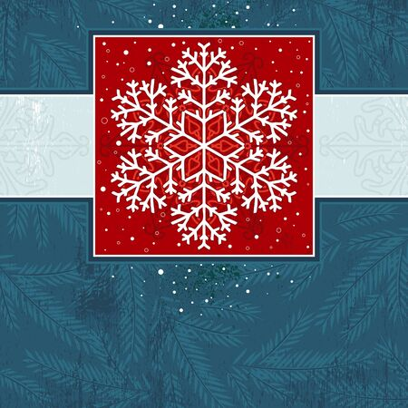 christmas card with snowflake Vector