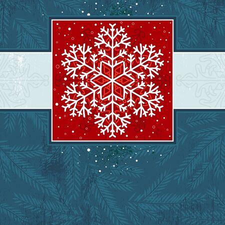 christmas card with snowflake Stock Vector - 10757014