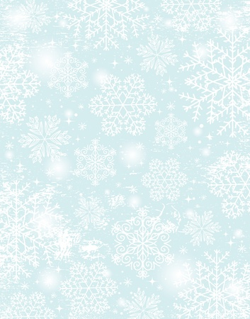 snowflake background: blue christmas background with snowflakes