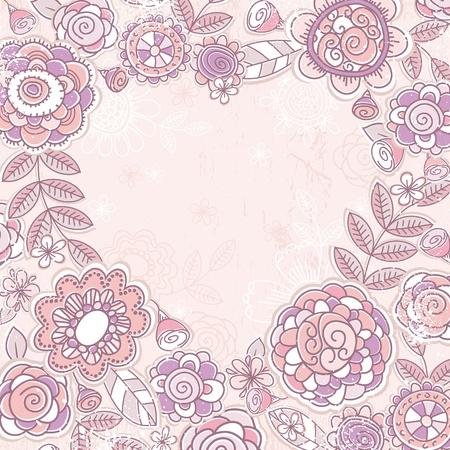 valentine heart of pink flowers,  vector illustration