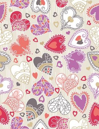San Valentín con corazones de color de fondo, ilustración vectorial Ilustración de vector