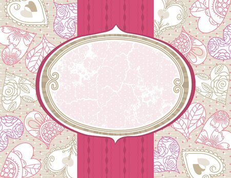 valentine background with color hearts,  vector illustration Vector