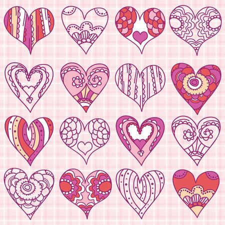 hand drawing valentines heart, vector illustration Vector
