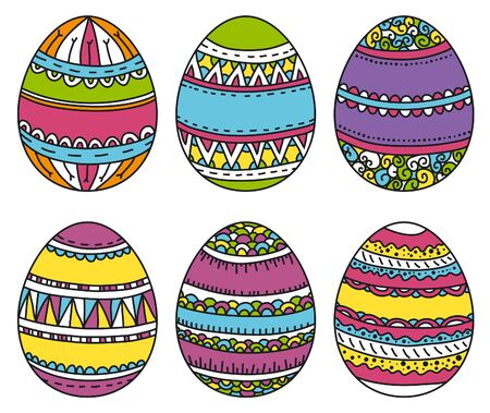color easter eggs, vector illustration Vector