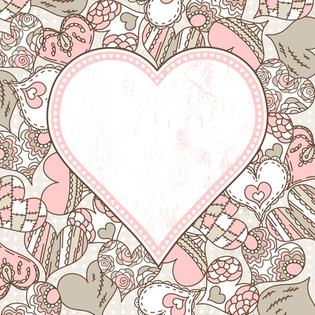 romantic picture: background with valentines hearts,  vector illustration