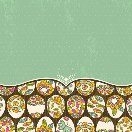 background with many easter eggs, vector Stock Vector - 12492320