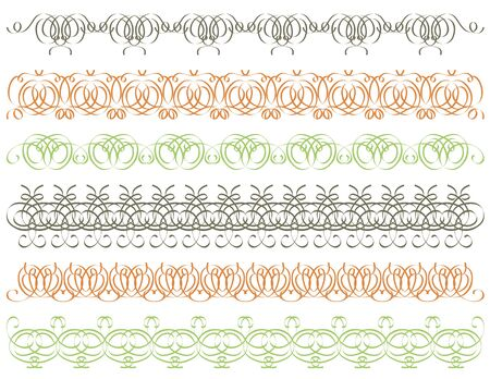 seven calligraphic decorative lines Stock Vector - 12800231