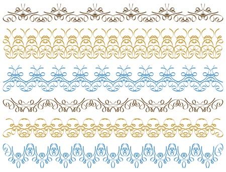 seven calligraphic decorative lines Stock Vector - 12800232