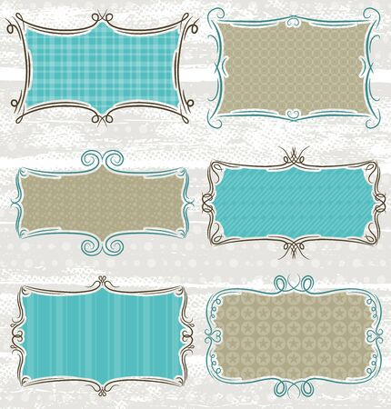 decorative  labels suitable for design, vector Stock Vector - 12946455