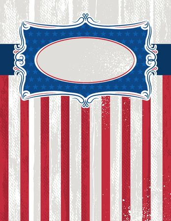 usa background with one decorative label, vector illustration Stock Vector - 12946458