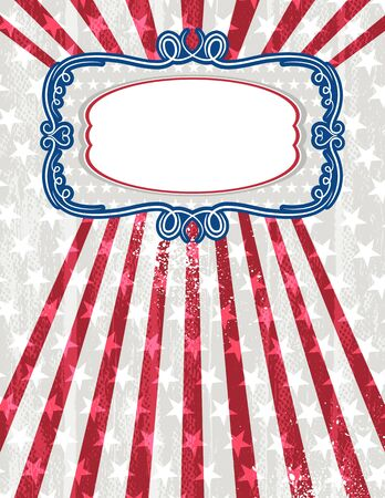 usa background with one decorative label, vector illustration Contains transparent objects Vector