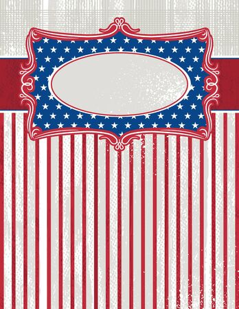 usa background with one decorative label, vector illustration Vector