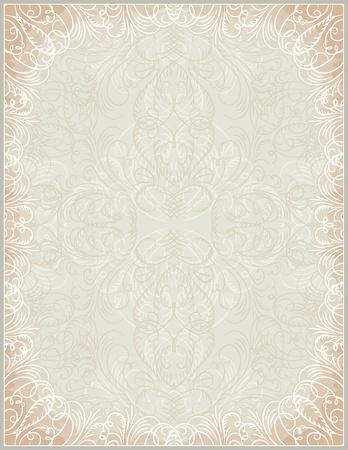 oorkonde: beige certificaat achtergrond met kalligrafische lijnen, vector