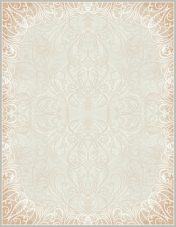 beige certificate background with calligraphic lines, vector Stock Vector - 13030284