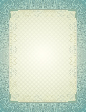 marriage certificate: certificate background with calligraphic lines, vector illustration