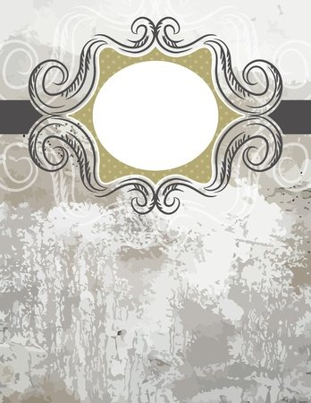 grunge background with decorative  labels. Stock Vector - 13383614