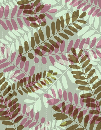 separable: background with many tracing silhouettes of leafs, Contains transparent objects Illustration