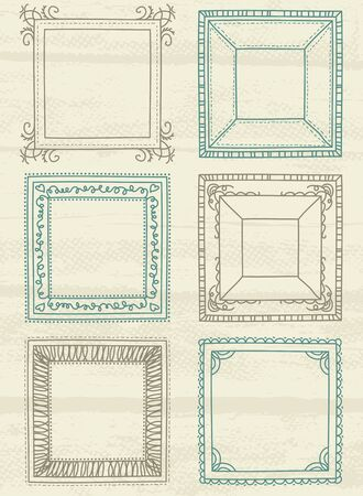 decorative square  labels suitable for design, vector Stock Vector - 13628988
