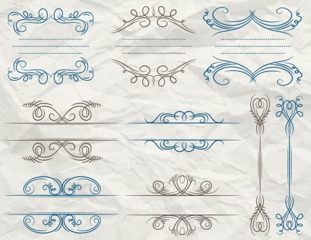 clipart wrinkles: decorative frame suitable for design over paper background, vector
