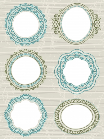 decorative circle labels suitable for design Vector