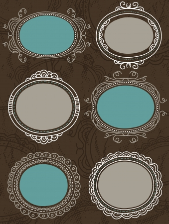 decorative circle labels suitable for design Stock Vector - 13658524