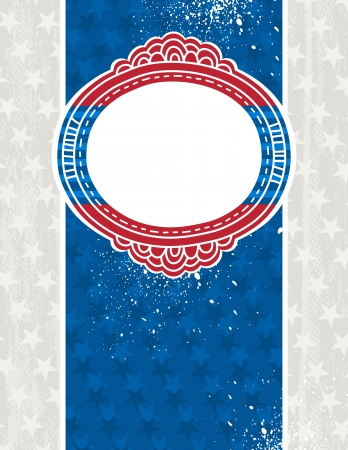 usa background with one decorative label, illustration Vector