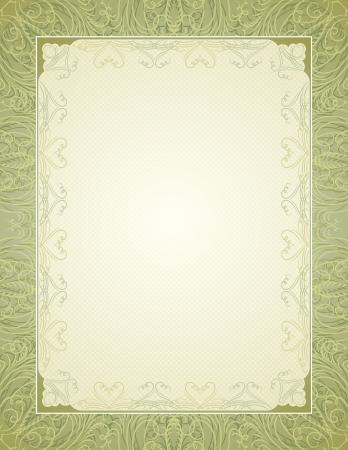 oorkonde: certificaat achtergrond met kalligrafisch lijnen, vector